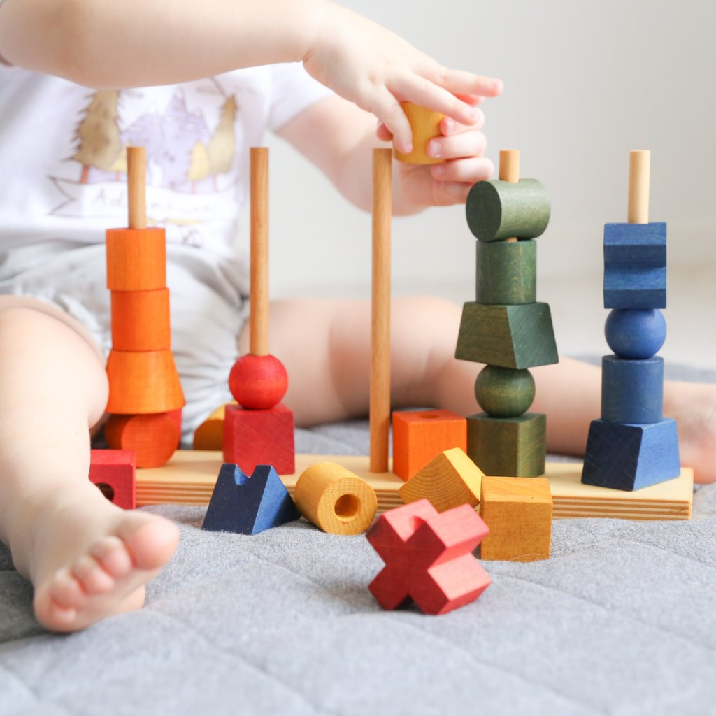 Stacking Rainbow Toy Wooden Story TcJl13FK