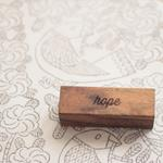 Bloques de madera Peace & Love | Wooden Story